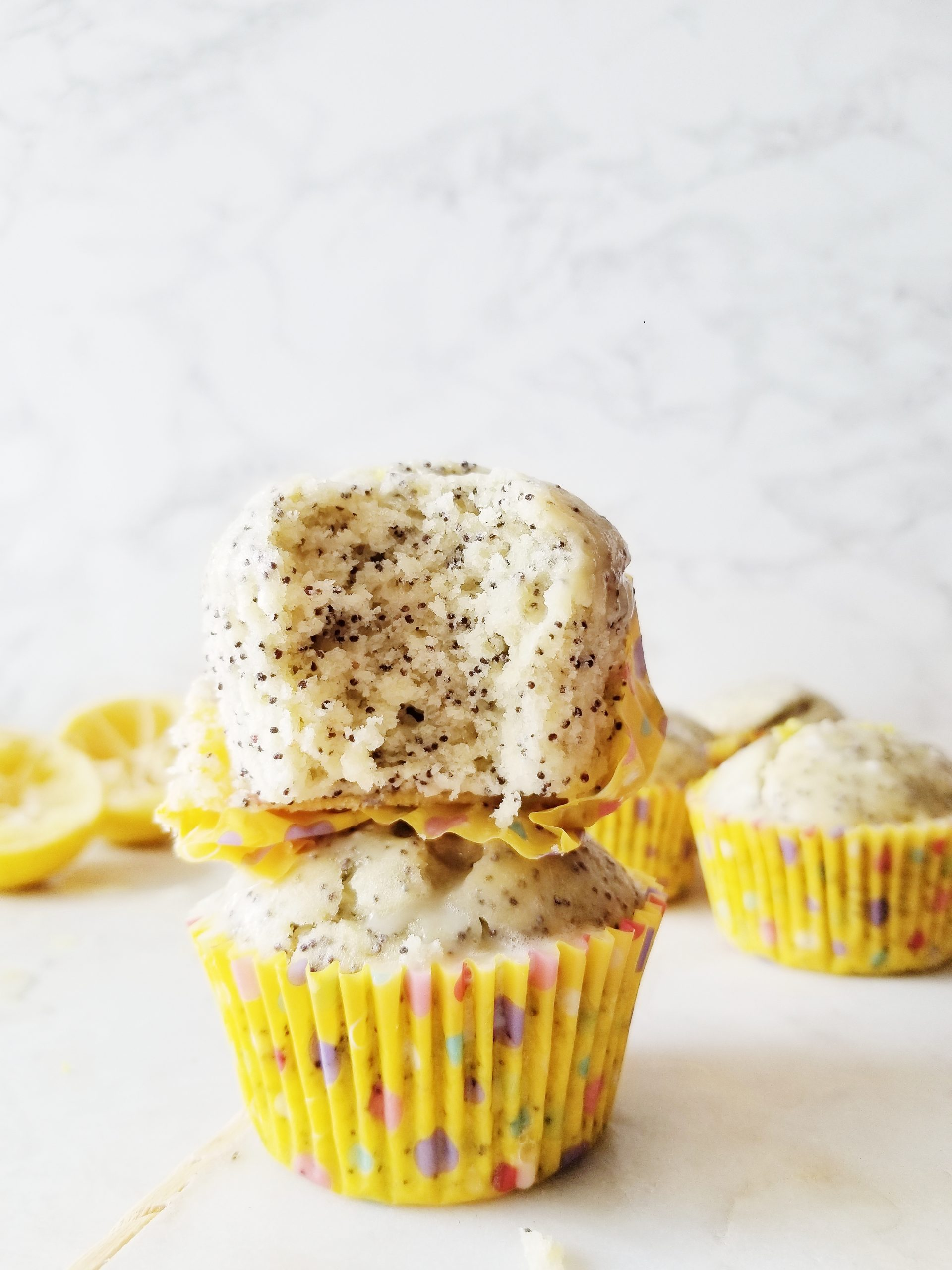 Lemon Poppy Seed Muffins with Coconut Oil